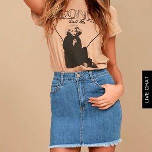 "Lulu's ""pop & lock"" denim mini skirt"